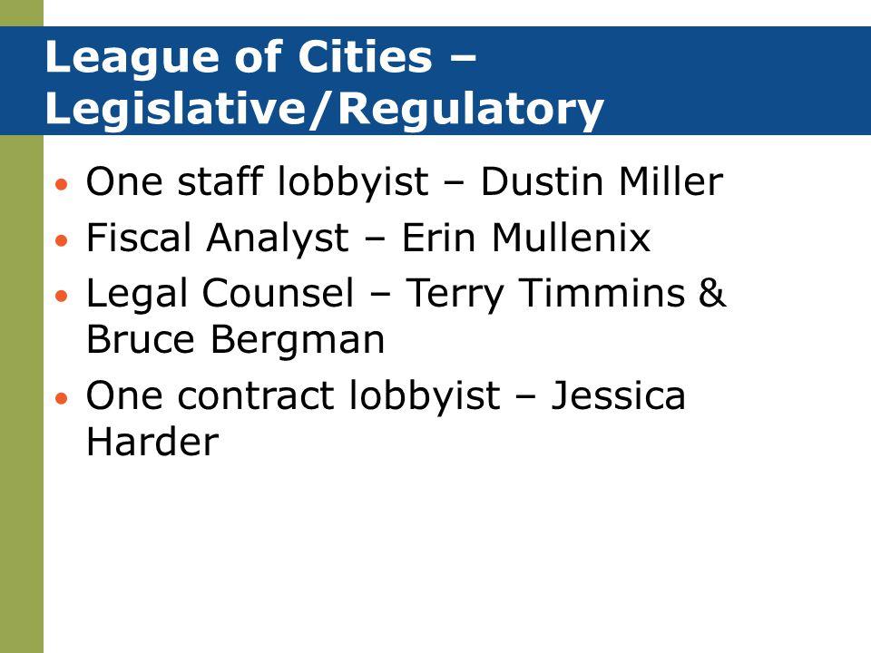 League of Cities – Legislative/Regulatory