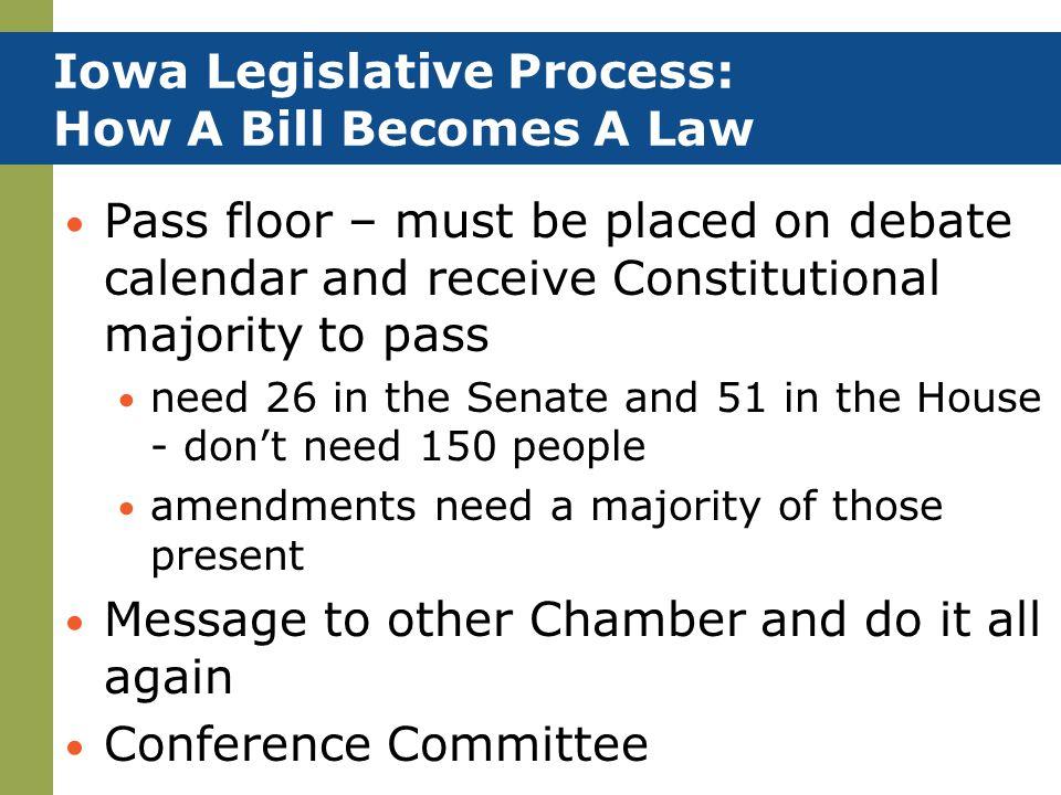 Iowa Legislative Process: How A Bill Becomes A Law