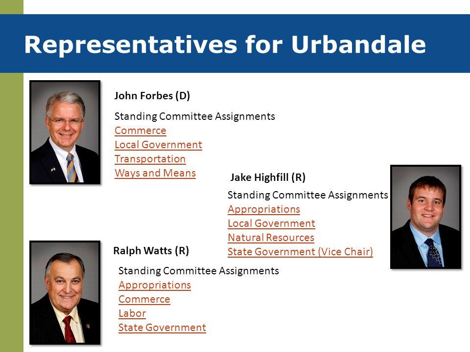 Representatives for Urbandale