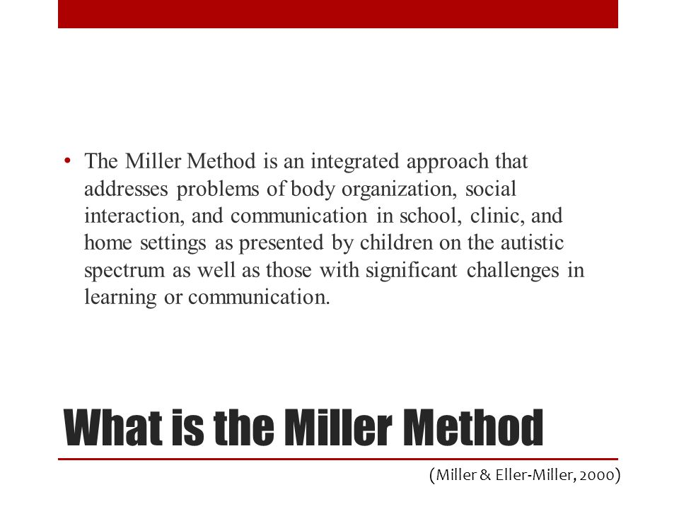 What is the Miller Method