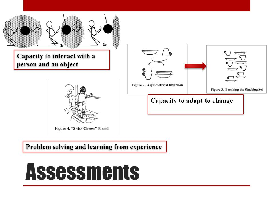 Assessments Capacity to interact with a person and an object