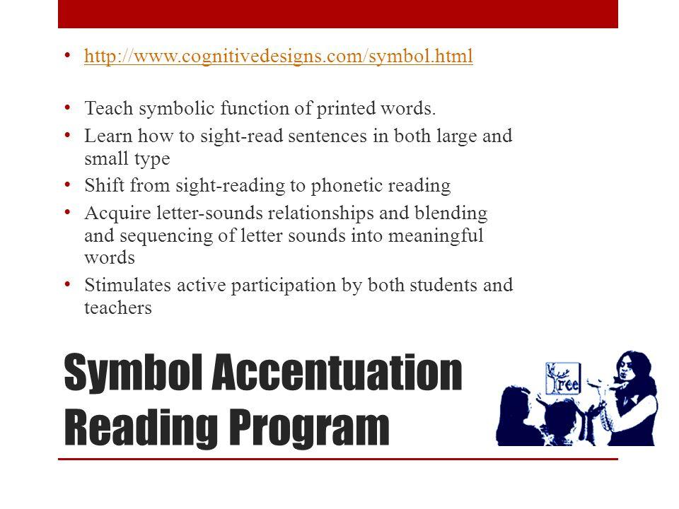 Symbol Accentuation Reading Program