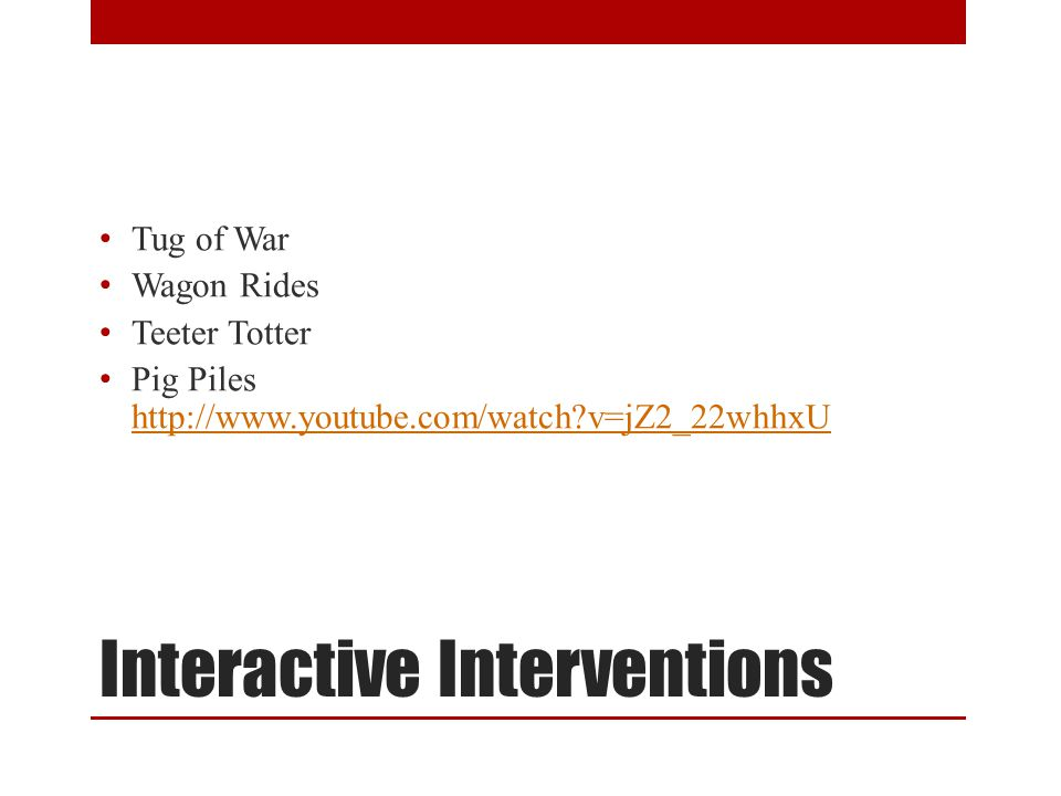 Interactive Interventions