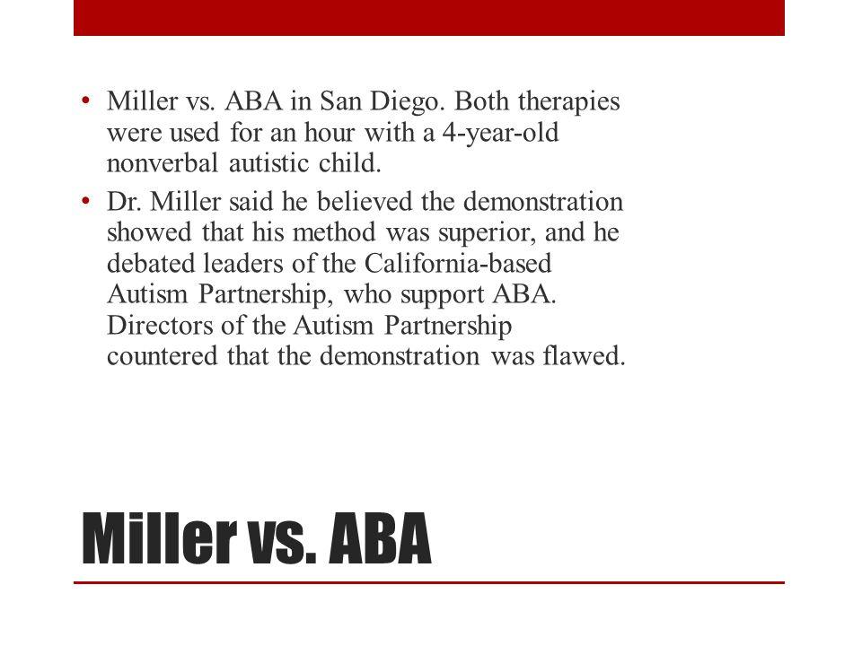 Miller vs. ABA in San Diego