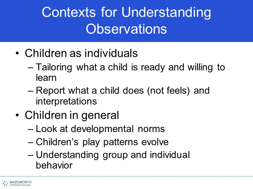 Contexts for Understanding Observations
