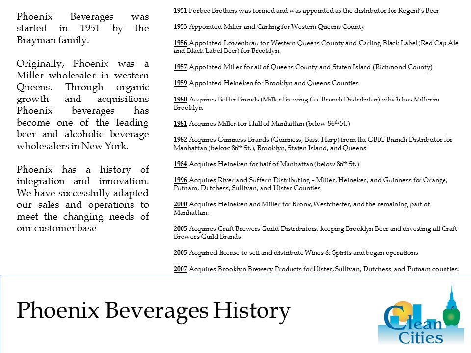 Phoenix Beverages History