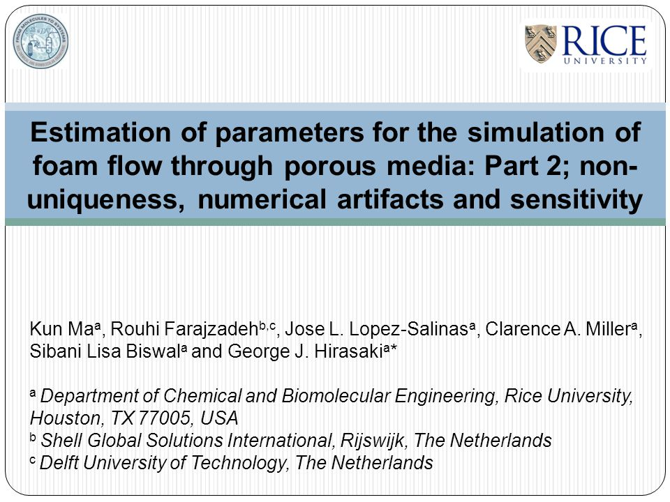 Estimation of parameters for the simulation of foam flow through porous media: Part 2; non-uniqueness, numerical artifacts and sensitivity