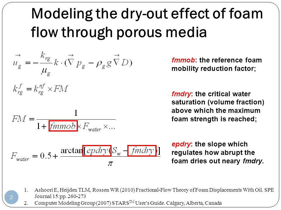 Modeling the dry-out effect of foam flow through porous media