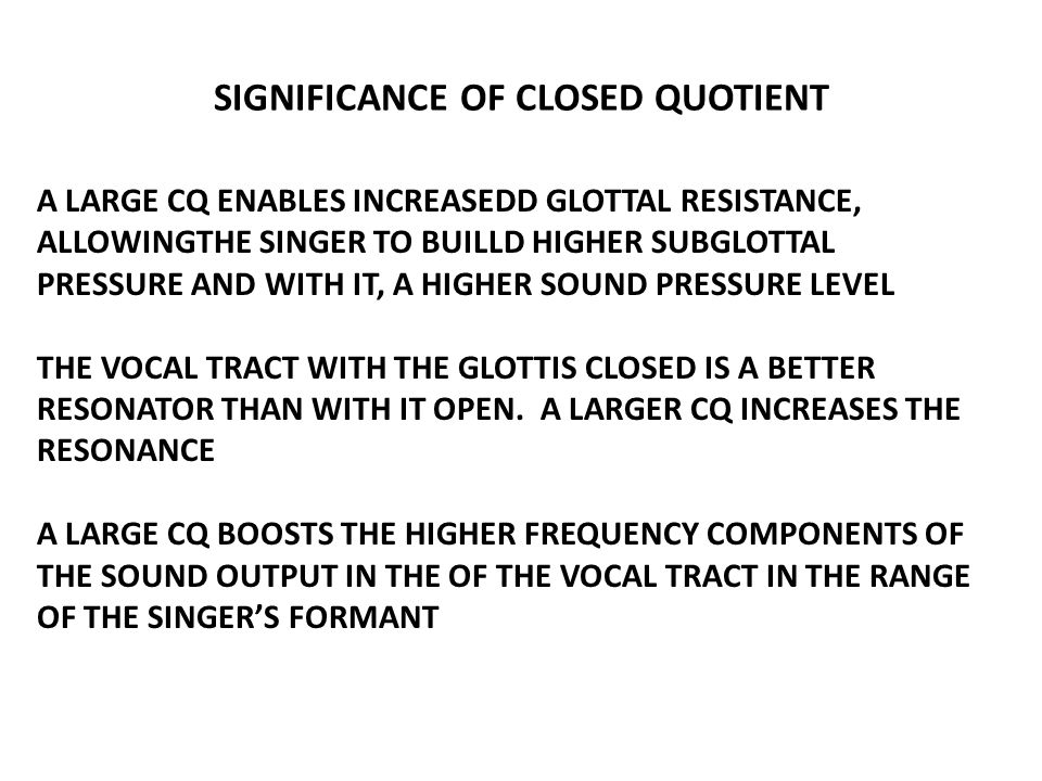 SIGNIFICANCE OF CLOSED QUOTIENT
