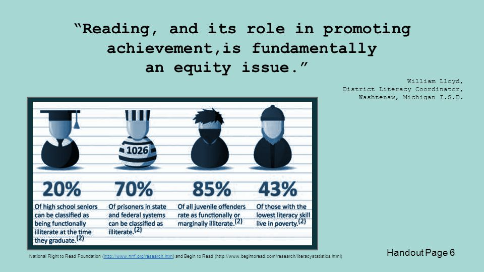 Reading, and its role in promoting achievement,is fundamentally