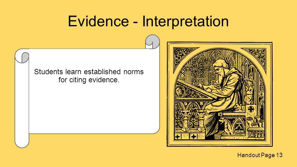 Evidence - Interpretation