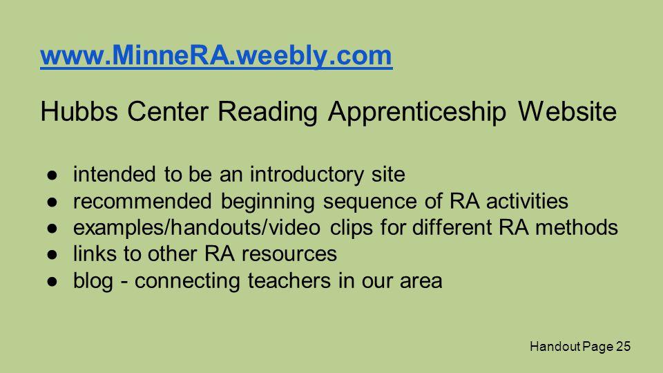 Hubbs Center Reading Apprenticeship Website