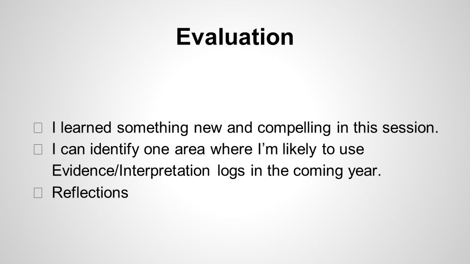 Evaluation I learned something new and compelling in this session.