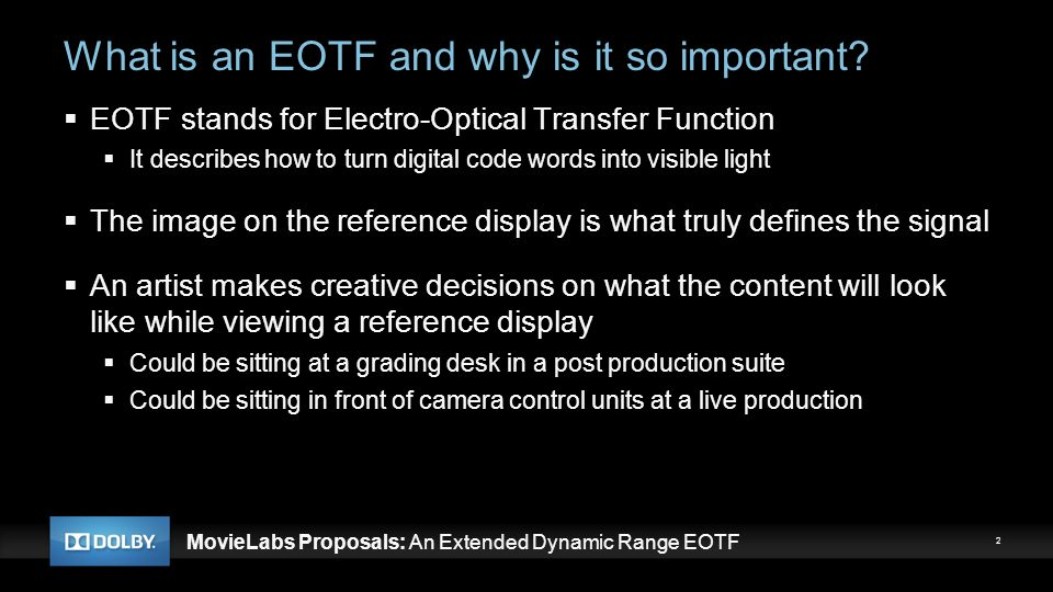 What is an EOTF and why is it so important