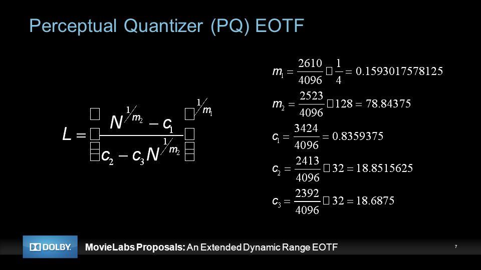 Perceptual Quantizer (PQ) EOTF
