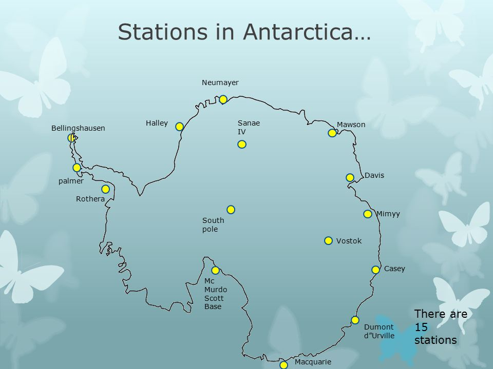 Stations in Antarctica…