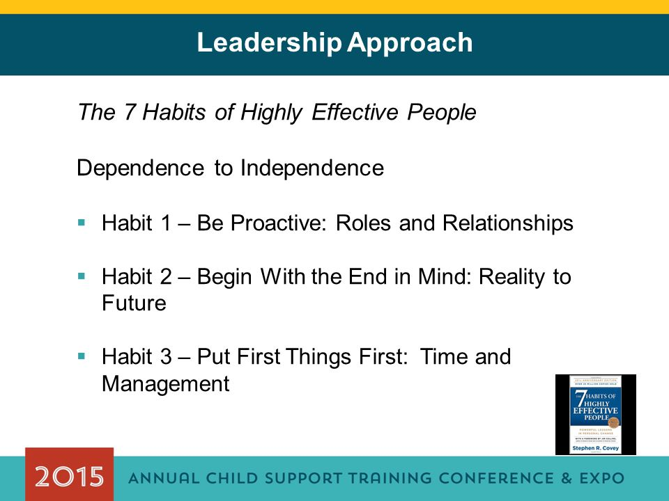 Leadership Approach The 7 Habits of Highly Effective People