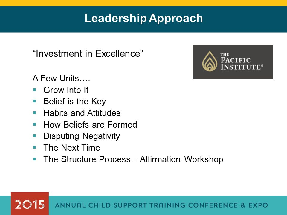 Leadership Approach Investment in Excellence A Few Units….