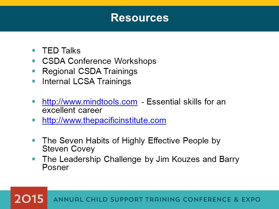 Resources TED Talks CSDA Conference Workshops Regional CSDA Trainings