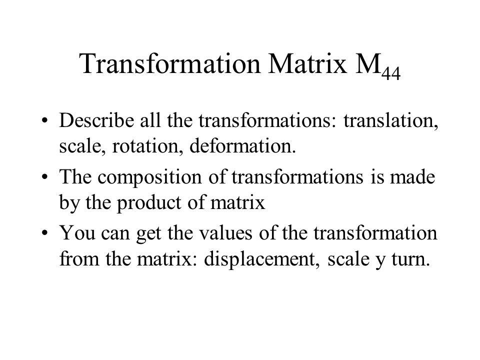 Transformation Matrix M44