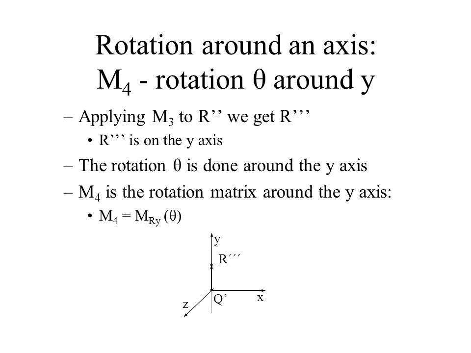 Rotation around an axis: M4 - rotation θ around y