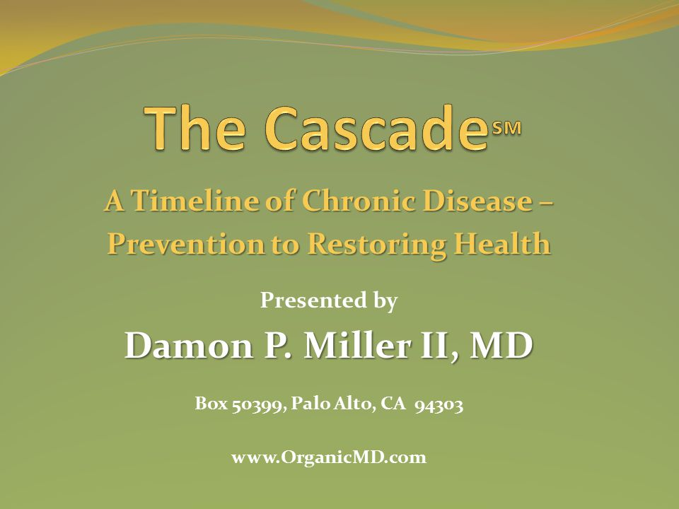 A Timeline of Chronic Disease – Prevention to Restoring Health