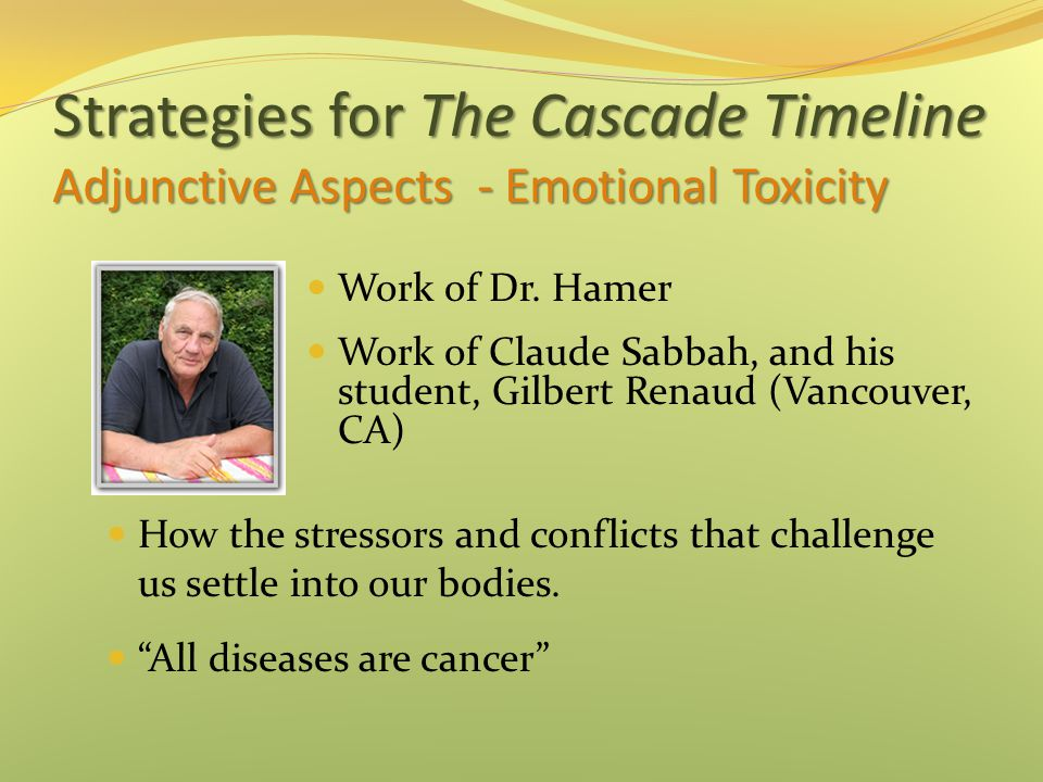 Strategies for The Cascade Timeline Adjunctive Aspects - Emotional Toxicity