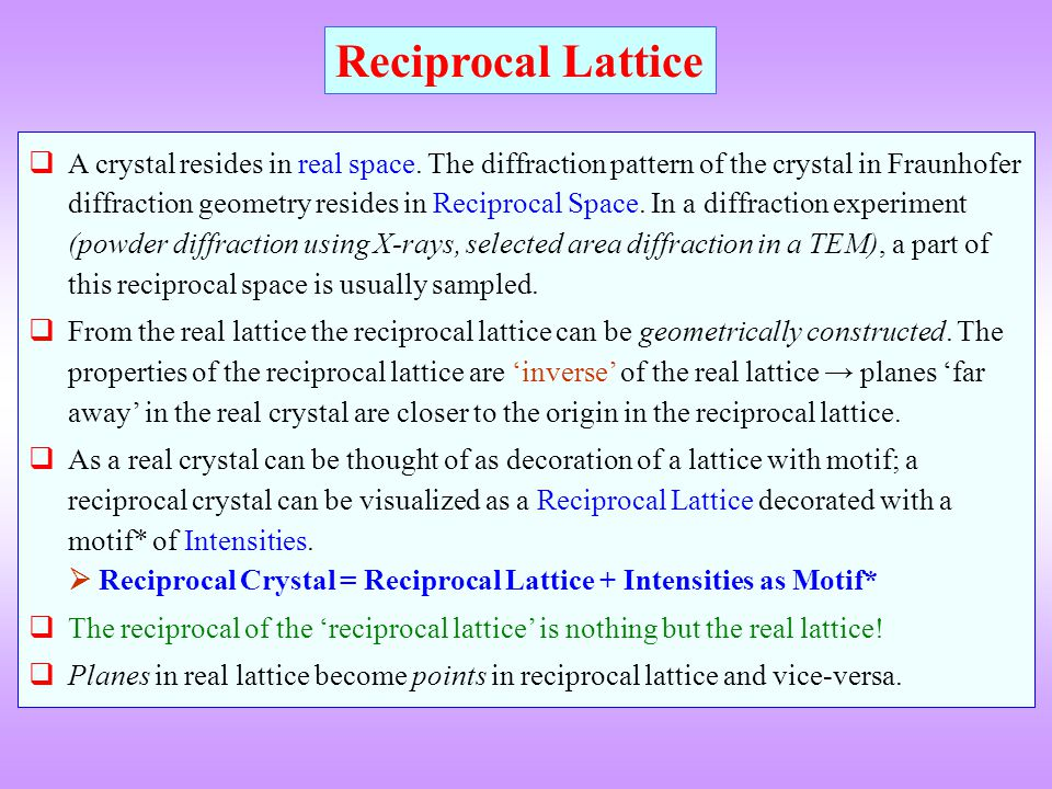 Reciprocal Lattice