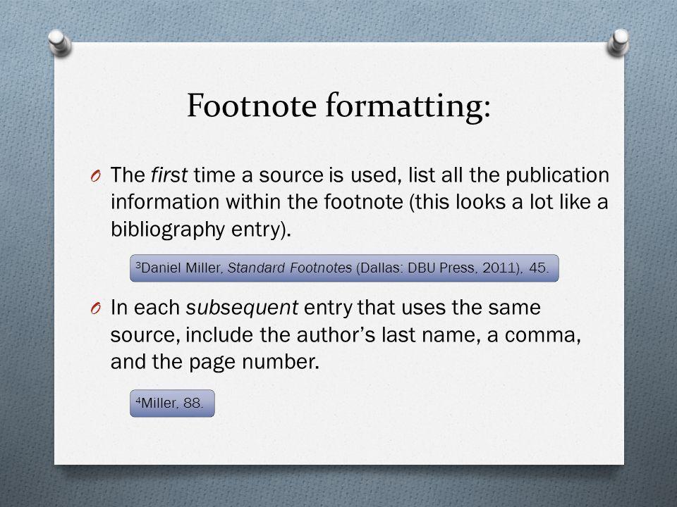 Footnote formatting: