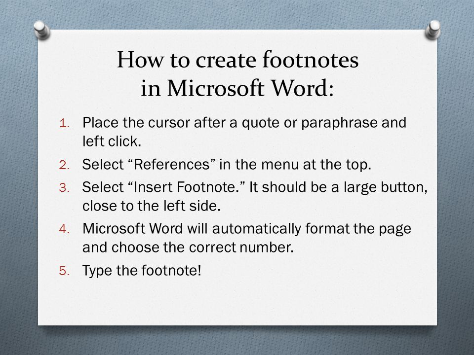 How to create footnotes in Microsoft Word: