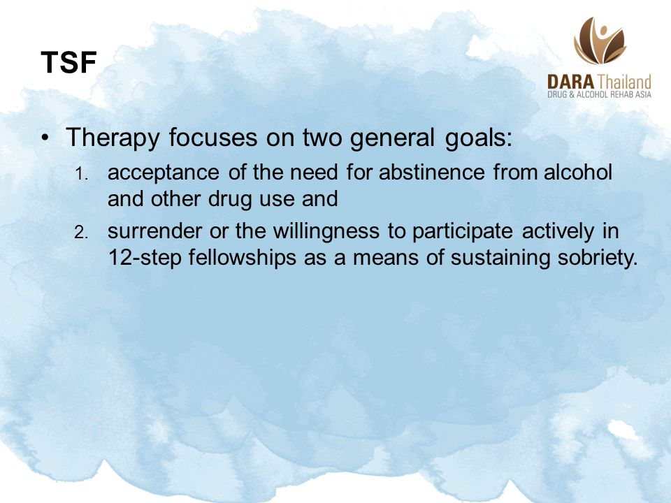 TSF Therapy focuses on two general goals: