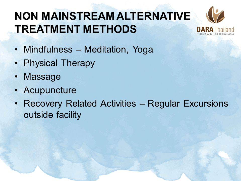 Non Mainstream Alternative Treatment Methods