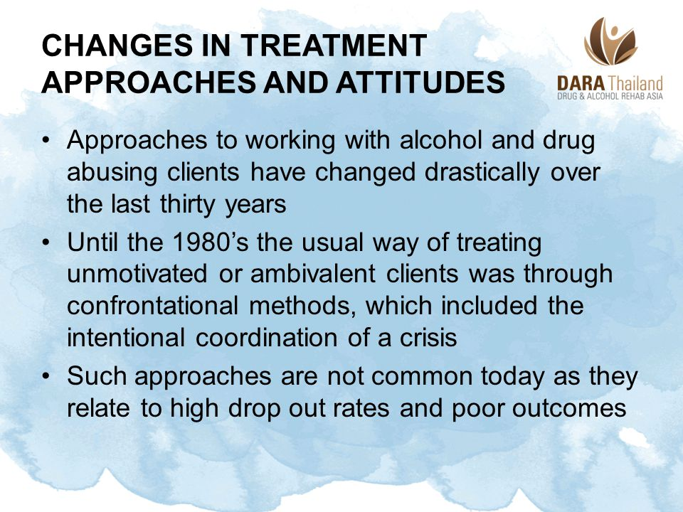 Changes in Treatment Approaches and Attitudes