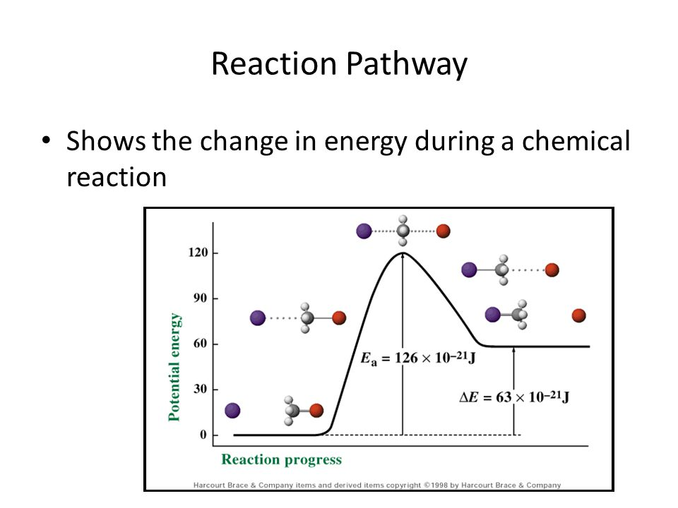 Reaction Pathway Shows the change in energy during a chemical reaction