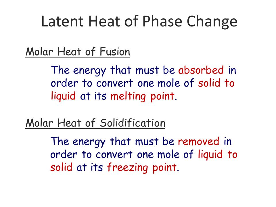 Latent Heat of Phase Change