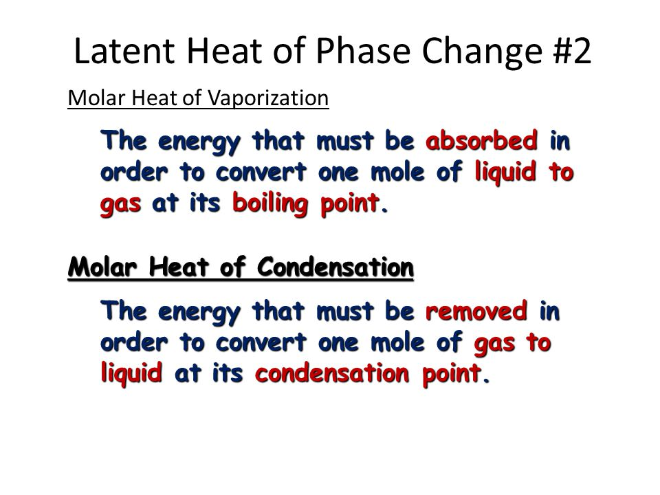 Latent Heat of Phase Change #2