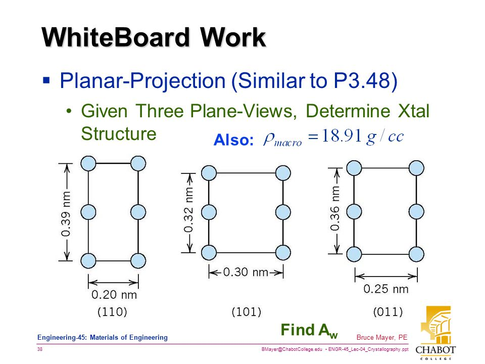 WhiteBoard Work Planar-Projection (Similar to P3.48)
