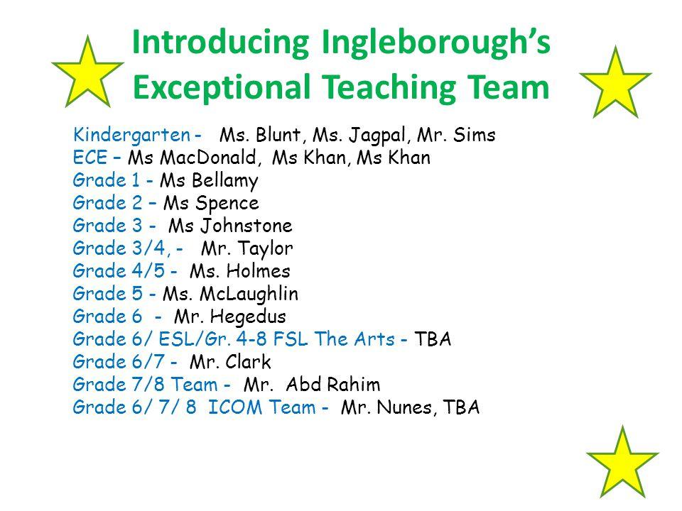 Introducing Ingleborough's Exceptional Teaching Team