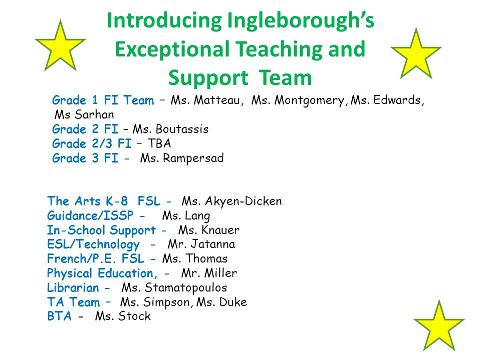 Introducing Ingleborough's Exceptional Teaching and Support Team