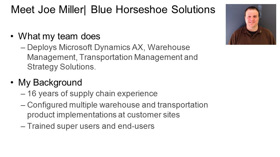 Meet Joe Miller| Blue Horseshoe Solutions