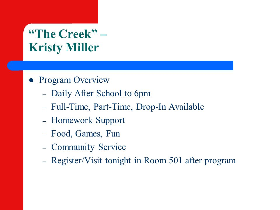 The Creek – Kristy Miller