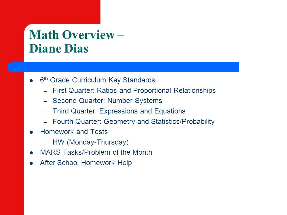 Math Overview – Diane Dias