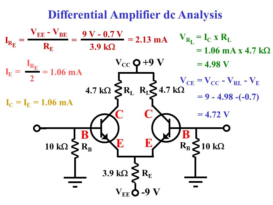 Differential Amplifier dc Analysis