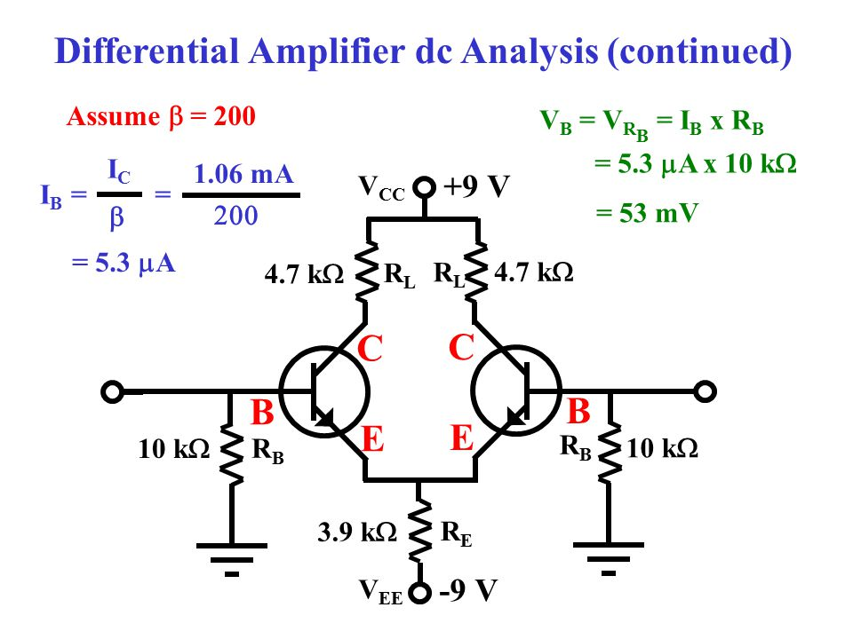 Differential Amplifier dc Analysis (continued)