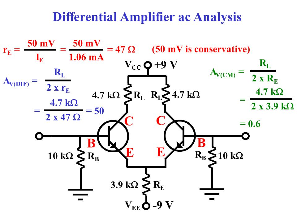 Differential Amplifier ac Analysis