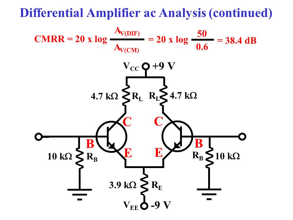 Differential Amplifier ac Analysis (continued)