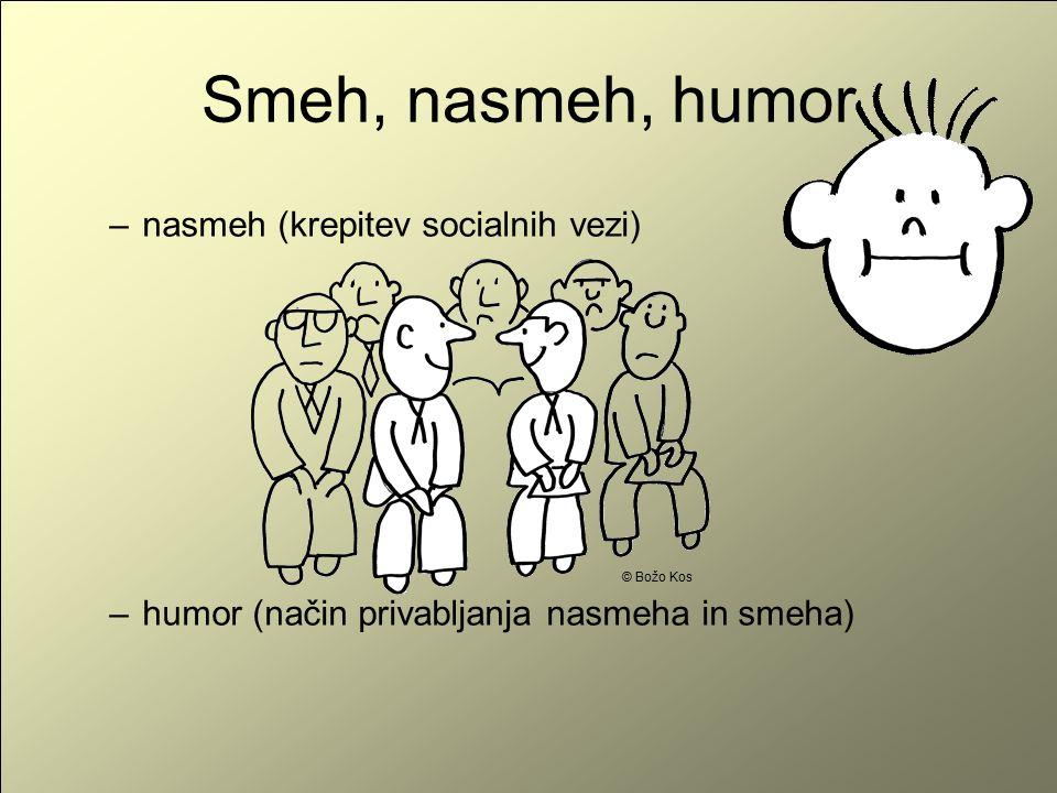 Smeh, nasmeh, humor nasmeh (krepitev socialnih vezi)