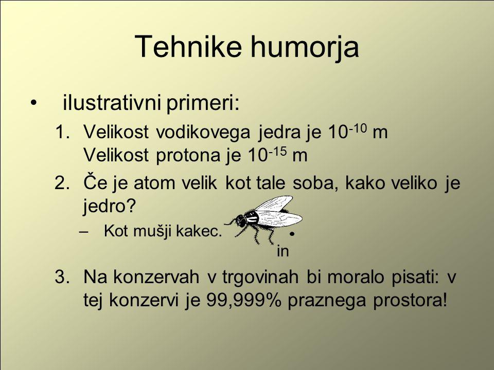Tehnike humorja ilustrativni primeri: