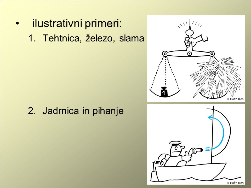 ilustrativni primeri: