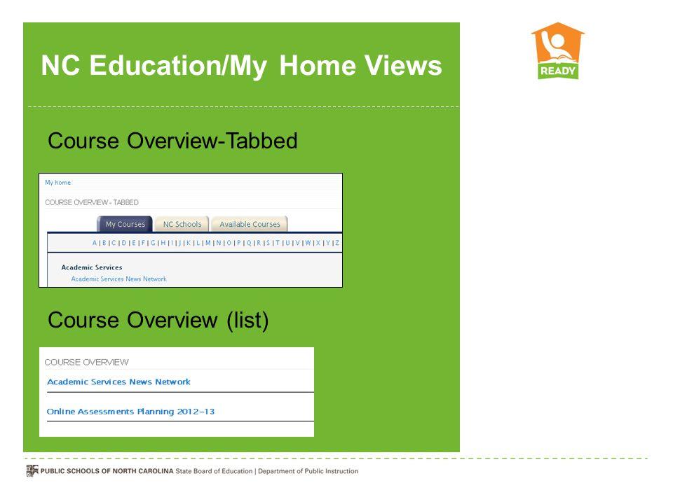 NC Education/My Home Views